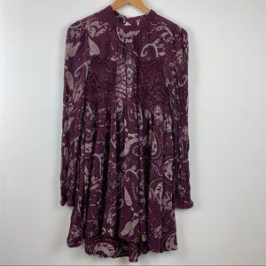 FREE PEOPLE Burgundy Tunic Dress Top